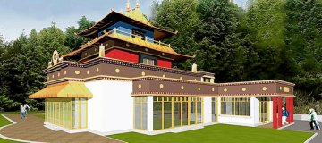 3D Dzogchen Beara temple simulation