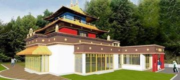 3D Dzogchen Beara temple simulation