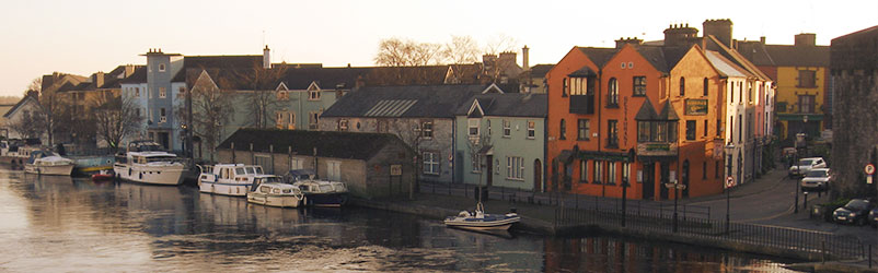 Athlone city centre from the bridge