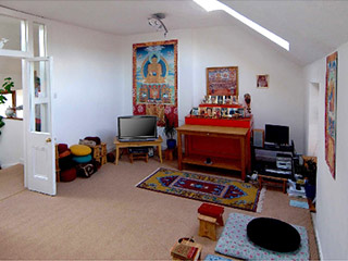 Rigpa's meditation room in Athlone