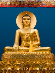 Budda statue In Lerab Ling