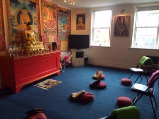 Meditation room at Rigpa Dublin