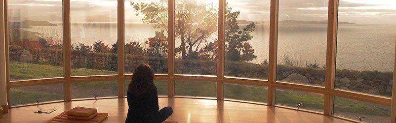 View from Dzogchen Beara retreat centre