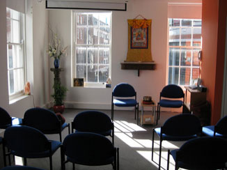 Rigpa Limerick centre - inner view