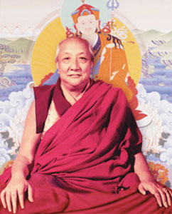 Portrait of Dilgo Khyentse Rinpoche