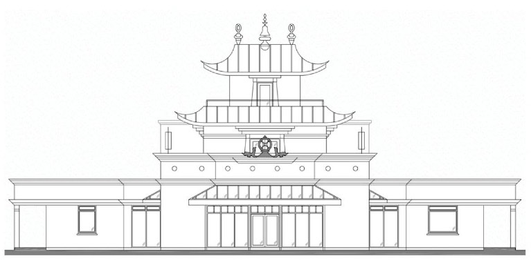 Temple plan in Dzogchen Beara