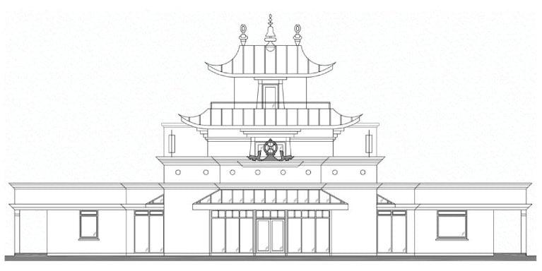 Temple plan in Dzogchen Beara